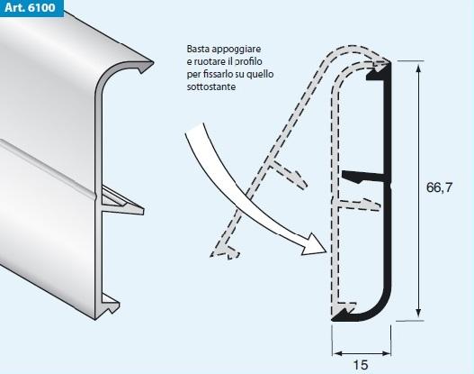 Profili e barre in alluminio al go alluminio - Battiscopa per cucina ...