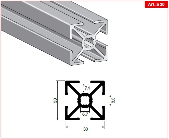 Profili Strutturali Alluminio Anodizzato Estruso Al Go