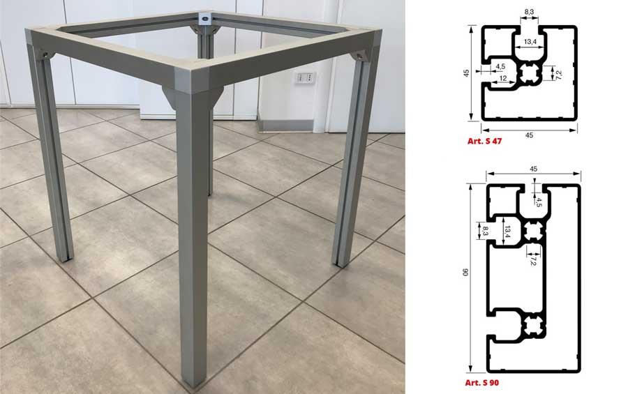 Strutture e telai in alluminio | AL.GO. ALLUMINIO